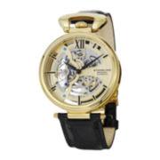 Stührling® Original Mens Gold-Tone Dial Skeleton Automatic Watch
