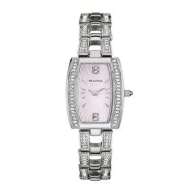 jcpenney.com | Bulova® Womens Crystal-Accent Stainless Steel Tonneau Bracelet Watch 96L208