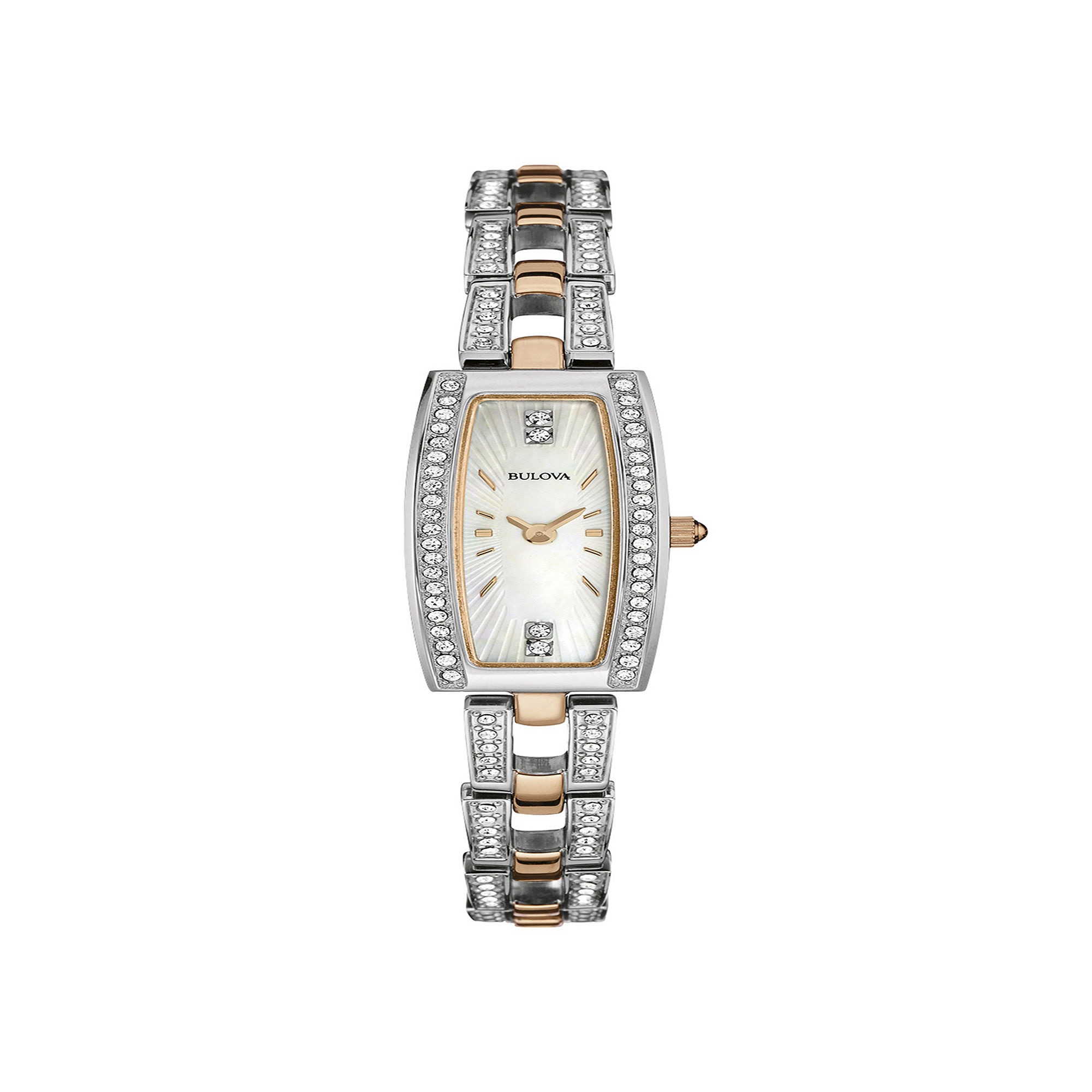 Bulova Womens Crystal-Accent Bracelet and Watch Set 98X110