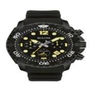 Bulova® Sea King Mens UHF Black Stainless Steel Sport Watch 98B243