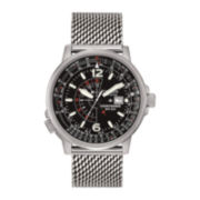 Citizen® Eco-Drive® Nighthawk Mens Mesh Strap Watch BJ7008-51E