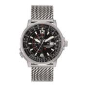 Citizen® Eco-Drive® Nighthawk Mens Mesh Strap Watch BJ7008-51E