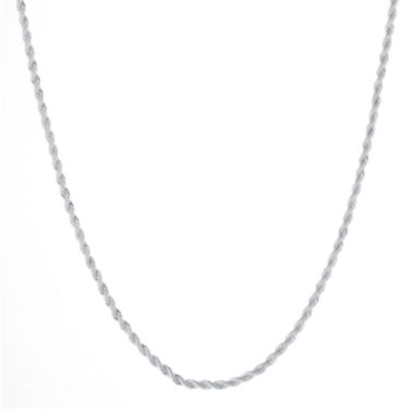 "jcpenney.com | Silver Reflections™ Silver-Plated 18-24"" Twisted Rope Chain"
