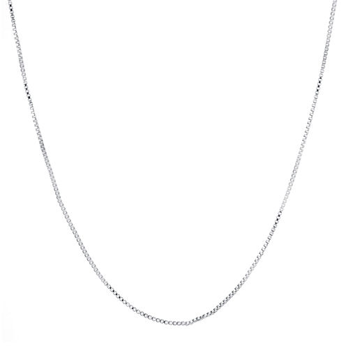 "Silver-Plated 18-24"" Box Chain"