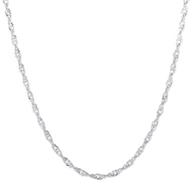 "jcpenney.com | Silver-Plated 18"" Singapore Chain"