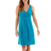 St. John's Bay® Sleeveless Pleated Dress