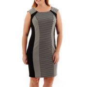 Studio 1® Sleeveless Striped Bodycon Sheath Dress - Plus