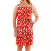 Alyx® Sleeveless Ikat Print Sheath Dress - Plus