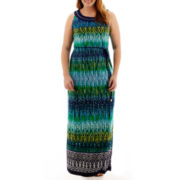 Studio 1® Sleeveless Aztec Print Maxi Dress - Plus