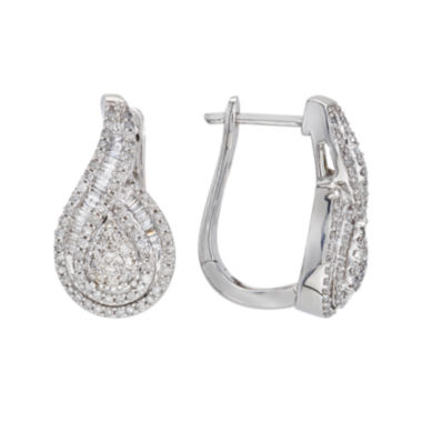 jcpenney.com | 1 CT. T.W. Diamond 10K White Gold Pear-Shaped Earrings