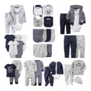 Carter's® Navy Mustache Baby Essentials Collection - Boys