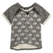 Disney Descendants Short-Sleeve Lace Sweatshirt - Girls 7-16