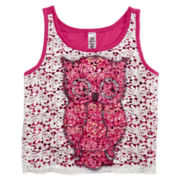Beautees Crochet-Front Tank Top - Girls 7-16