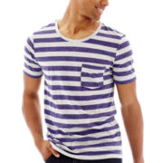 Arizona Striped Scoopneck Pocket Tee