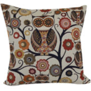 Wise Old Owl Jacquard Decorative Pillow