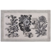 Sketchbook Botanical Toile Bath Rug
