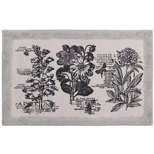 Creative Bath™ Sketchbook Botanical Toile Bath Rug