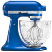 CLOSEOUT! KitchenAid® 5-qt. Artisan® Design Series Stand Mixer + Glass Bowl KSM155GB