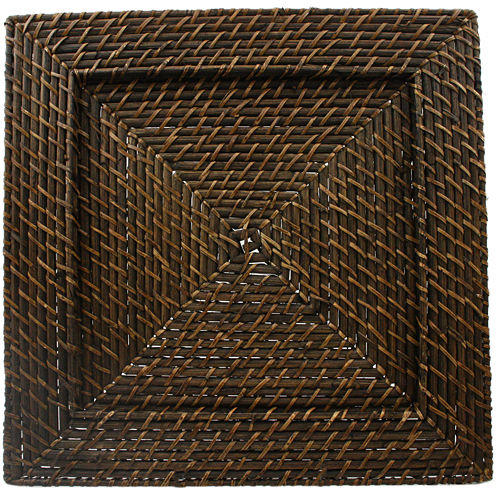 Square Woven Rattan Set of 4 Chargers