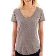 Stylus™ Short-Sleeve Metallic Dot Slub T-Shirt