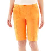 St. John's Bay® Cargo Bermuda Shorts