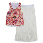 Beautees Crop Top, Maxi Skirt and Necklace - Girls 7-16