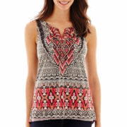 Unity™ Sleeveless Micro-Jersey Knit Top - Petite
