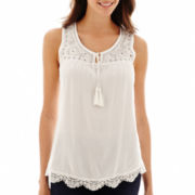Unity™ Sleeveless Bling Challis Top - Petite