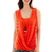 Alyx® Sleeveless Shadow-Texture Necklace Top