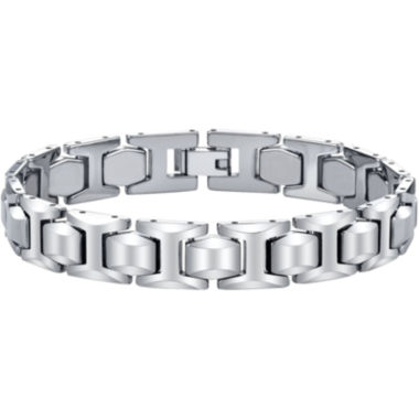 jcpenney.com | Mens Tungsten Carbide Link Bracelet