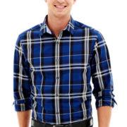 Claiborne Plaid Button-Front Shirt