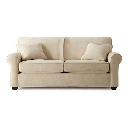 "Possibilities Roll-Arm 75"" Full Sleeper Sofa"