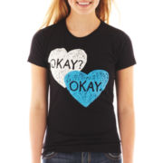 The Fault in Our Stars Short-Sleeve Okay Chalk Heart Graphic Tee
