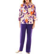 Alfred Dunner® Indochine Abstract Floral Shirt or Pull-On Pants