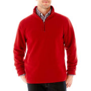 St. John's Bay® Long-Sleeve Quarter-Zip Fleece Pullover