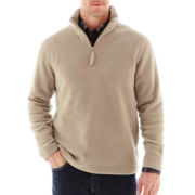 St. John's Bay® Long-Sleeve Quarter-Zip Fleece Pullover
