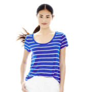 Joe Fresh™ Short-Sleeve Striped Crewneck Tee