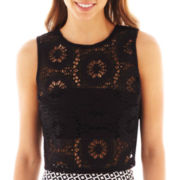 Bisou Bisou® Sleeveless Split-Back Crop Top