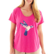 jcp™ Short-Sleeve Graphic Tee - Plus