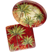 Sunset Palm 2-pc. Platter Set
