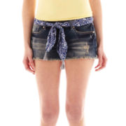Rewash Belted Denim Shorts