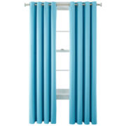 Liz Claiborne® Kathryn Brights Grommet-Top Room-Darkening Curtain Panel