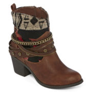 Pop Twister Cowboy Ankle Booties
