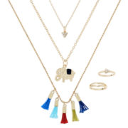 Decree® 5-pc. Necklace and Ring Set
