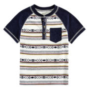 Arizona Henley Pocket Tee - Toddler Boys 2t-5t