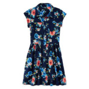 Arizona Floral-Print Shirtdress - Girls 7-16