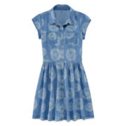 Arizona Medallion-Print Denim Shirtdress - Girls 7-16