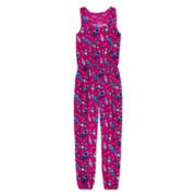 Arizona Feather-Print Jumpsuit - Girls 7-16