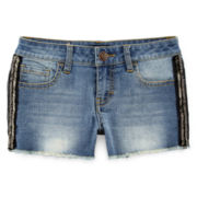 Vigoss® Beaded-Side Denim Shorts - Girls 7-14