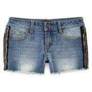 Vigoss® Beaded-Side Denim Shorts - Girls 7-14
